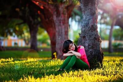 孤独な女性 ひとり
