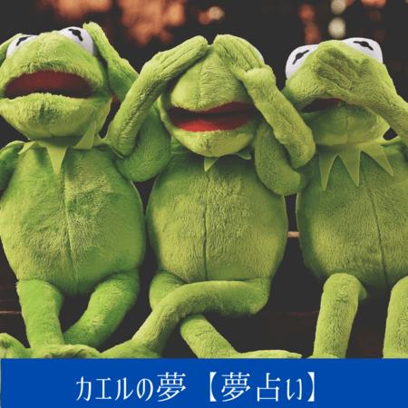 カエルの夢【夢占い一覧表】成長や変化・進歩の象徴