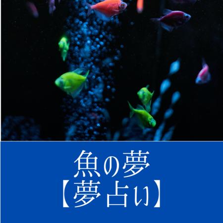 魚の夢の意味:幸運や発展をあらわす