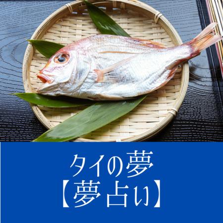 タイ(鯛)の夢の意味:金運アップや問題がまもなく解決することを暗示